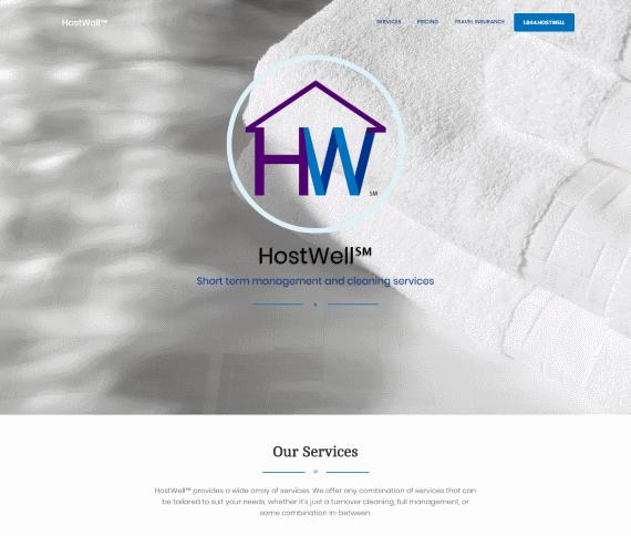 Создание сайта для компании HostWell