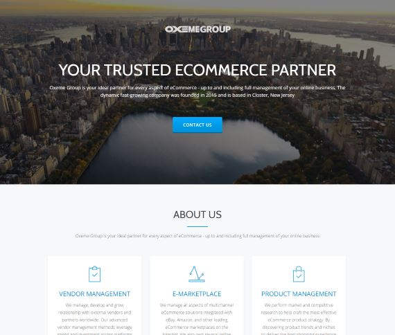 Создание сайта для компании Oxeme Group